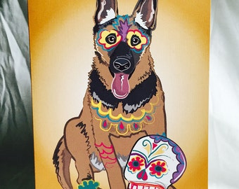 Muertos German Shepherd Greeting Card