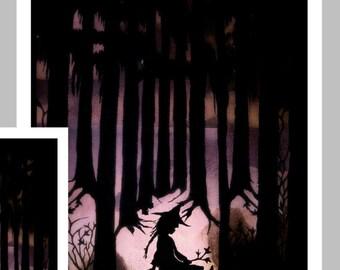 Paper Cut Halloween  Card,    Halloween art, Halloween Witch, Halloween decor, Halloween print