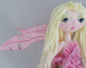 SUNSET FAIRY, the original Kaerie Faerie soft sculpture doll, handmade in the USA