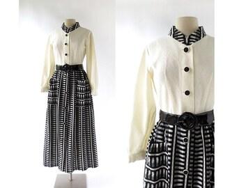 Vintage Maxi Dress | The Nomad | 1960s Dress | XS S