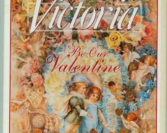 "Vintage Victoria Magazine February 1994 Volume 8 No 2 ""Be Our Valentine"" Issue Valentines"