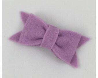 Darling Bow Felt Hair Clip, Light Purple Felt Hair Clip, Baby Hair Clip, Girl Hair Clip, Hair Bow,
