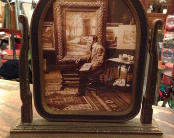 Antique Picture Frame om Stand