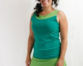 Comfy Skirt Mini - XL - GREEN TEA - Hemp/Organic Cotton/Lycra