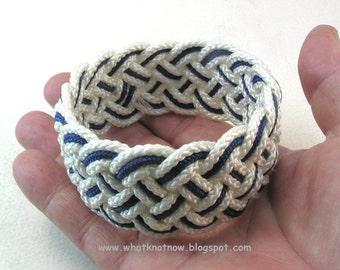 navy nylon rope bracelet turks head knot bracelet armband 3833