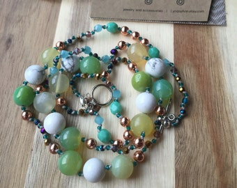 Spring Colors Hand Knotted Necklace
