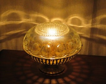 Charlotte's Orb brass and glass accent lamp
