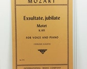 Exsultate Jubilate Motet K 165 for Voice and Piano, 1954 Mozart Sacred Score Edited by Sergius Kagen