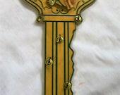 Vintage Wood Key Holder, Key Shaped Key Holder, Horse Head Key Holder, Unique Key Holder