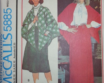 Hipster Shawl Pattern Mccalls 5885 Misses Skirt and Shawl Pattern Misses Size 10-12 Quick Easy Shawl Pattern Hipster Long skirt