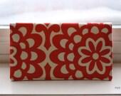 Checkbook Cover -Cherry Wallflower