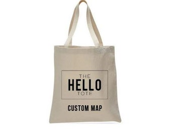 Tote Bag Upgrade | Custom Map for your Event or Wedding
