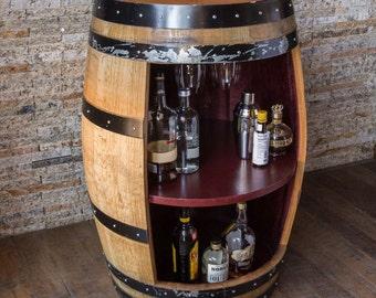 Wine Barrel Bar Cabinet