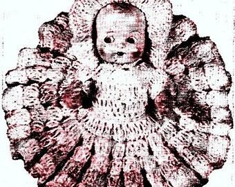 Doll Dress w/Ruffle Crochet Pattern 723043