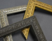 5 x 7, 8 x 10, 8.5 x 11 Vintage Gold, Silver, Dark Brown Ornate Picture Frames Readymade, Custom