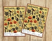 Printable Halloween I Spy activity game with Vintage style spooky illustrations Classroom activity Counting game Easy DIY print at home game