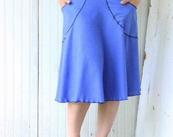 Hemp Half Moon Pocket Skirt - Organic Fabric - Made to Order - Many Colors to Choose From - Eco Fashion