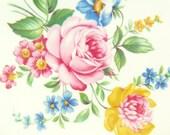 Two Vintage Floral Dessert Plates / Gold Rimmed Floral Bouquet Dishes / Vintage Boho Floral Kitchen