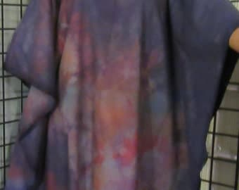 Earth Tones Caftan, Kaftan Dress, Hand Dyed, Plus, One Size