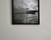 Lake Superior in the Winter Double Exposure Original Film Photo - 8x8 framed print