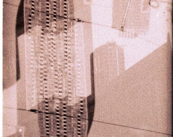 Toronto Original Holga Film Photo - City Scape Double Exposure