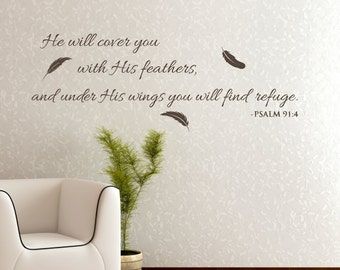 Christian Wall Decal Etsy - Bible verse wall decals