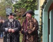 Custom Sleevless Black and Gold Captains Coat
