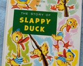 The Story Of SLAPPY DUCK  vintage children's book 1984 Rebus Style See and Say book read along with me