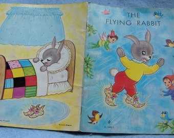 vintage childrens picture book THE FLYING RABBIT sc