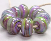 Bigger Enchanted Swirls  - 10 Handmade Lampwork Beads SW 155