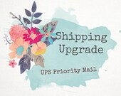 PRIORITY SHIPPING UPGRADE - Domestic Shipping - International Shipping