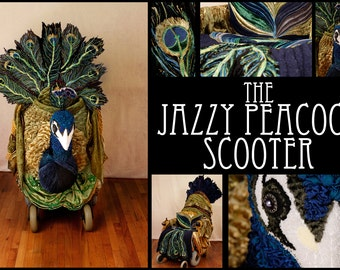 The Jazzy Peacock Scooter