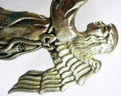 Vintage Brass Angel Candle Holder Metal Winged Angel Figurine Holiday Décor