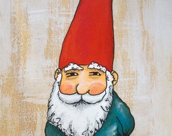 Knowing Gnome Painting