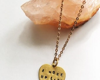 I woke up like this ~ beyonce flawless necklace