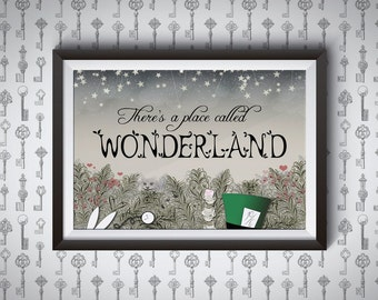There's a Place Called Wonderland | Alice in Wonderland Giclee