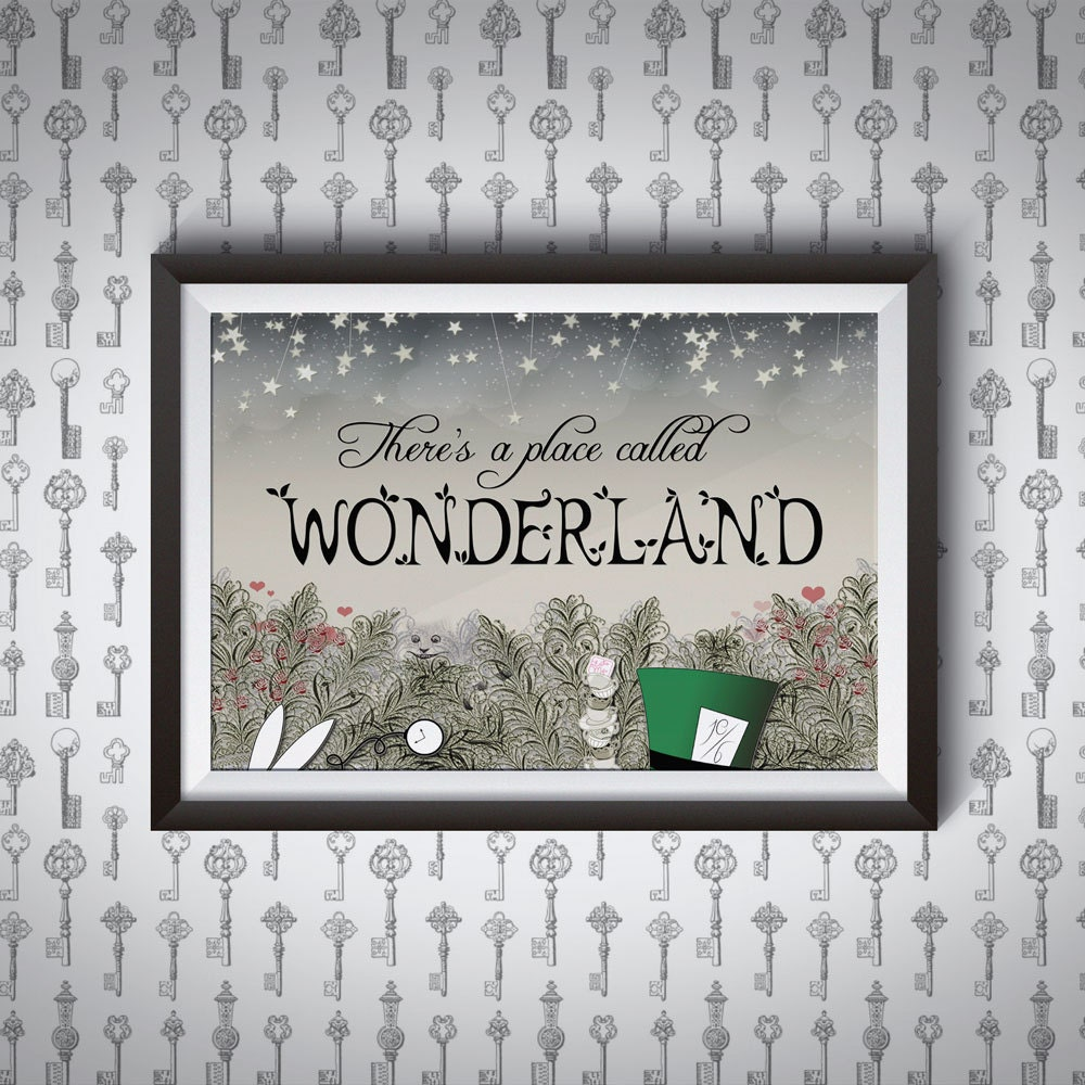 There's a Place Called Wonderland   Alice in Wonderland Giclee