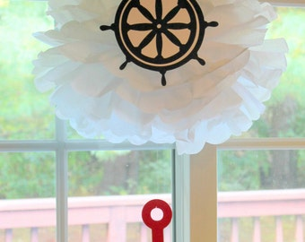 Nautical under the sea anchor navy  baby shower first birthday party decoration