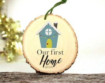 Our First Home Ornament - Gifts for Newlyweds - Wedding Gift - First Home - Customized Christmas Ornament