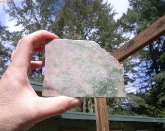 Thulite with Epidote Slab Lovely  from California