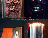 Necronomicon Book of the Dead 4X6 250 paged Sketch Book by Undead Ed Glows in the Dark