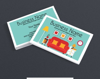 30% OFF SALE Business Card Designs - 2 Sided Printable Business Card Design - Interior Design Business Card - Home & Living 1