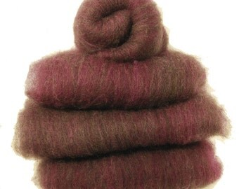Shetland Black Garnet Spinning Batts - 4 ounces