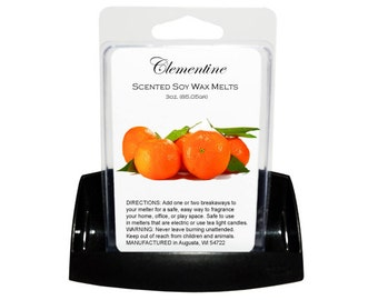 CLEMENTINE Soy Melts - Wax Tarts - Soy Tarts - Candle Tarts - Melting Tart - Scented Tart - Tart Melt - Wax Melt - Clamshell - Dye Free