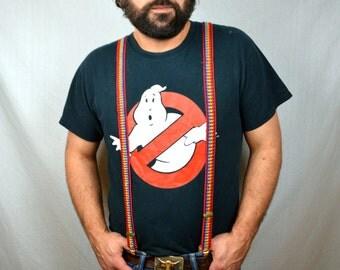 Vintage 1970s Skinny Mork From Ork Rainbow Suspenders