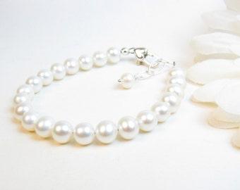 Real Pearl Bracelet for Flower Girl or Junior Bridesmaid