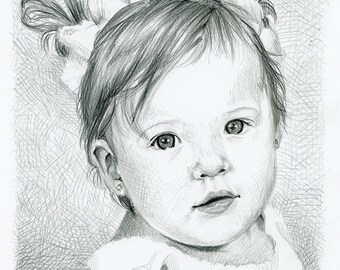 Custom Portrait, Custom Pencil Portrait *CONVO FOR AVAILABILITY* Custom Portrait, Child Portrait, Family Portrait, Holiday Portrait