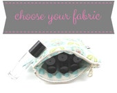 Small Roller Bottle Case - choose your fabric - essential oil bag, rollerbottle holder, travel bag
