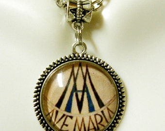 Ave Maria Marion symbol necklace - AP28-006
