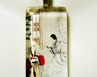 Chinese Annunciation pendant with chain - GP01-070